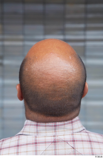 Head Hair Man White Casual Overweight Bald Street photo references