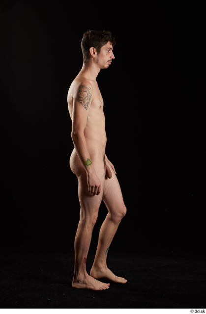 Whole Body Man White Nude Slim Walking Studio photo references