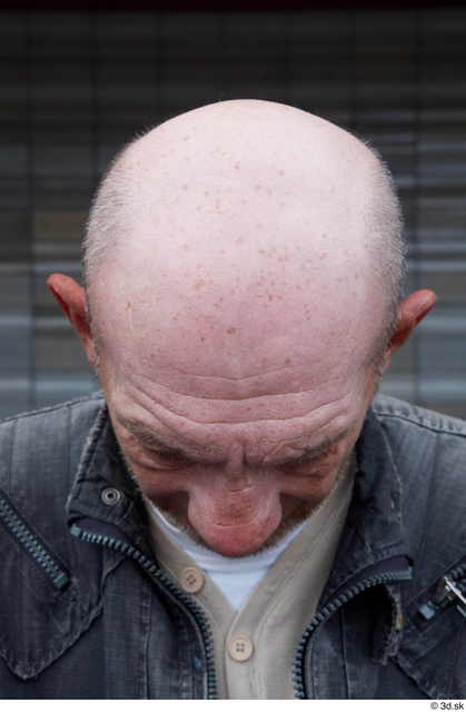 Head Man Casual Slim Bald Street photo references