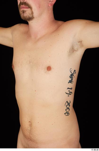 Chest Man White Nude Average Studio photo references