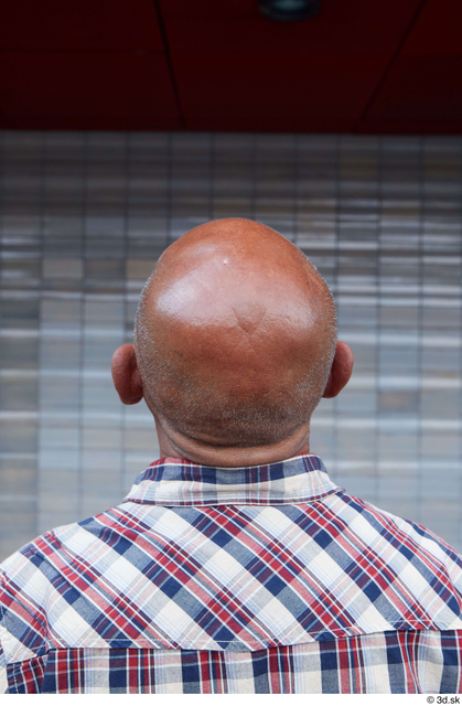Head Man White Casual Slim Bald Street photo references