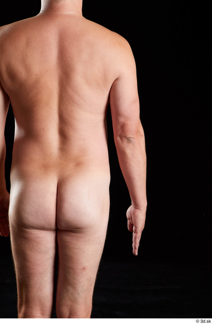 Arm Back Man White Nude Chubby Studio photo references