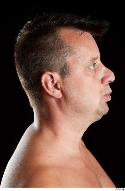 Head Man White Chubby Studio photo references