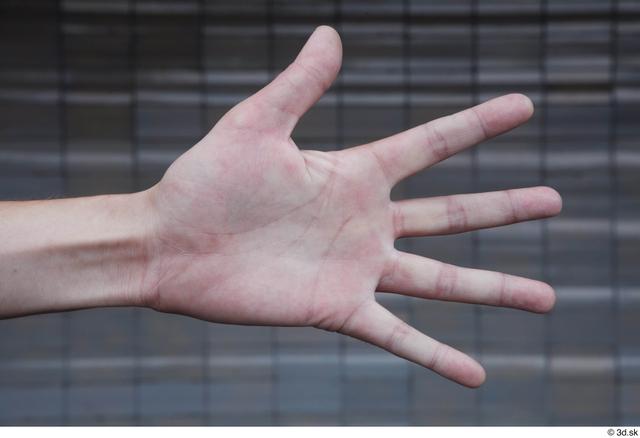 Hand Man White Sports Slim Street photo references