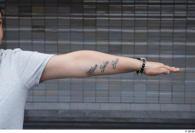 Arm Woman White Casual Chubby Street photo references