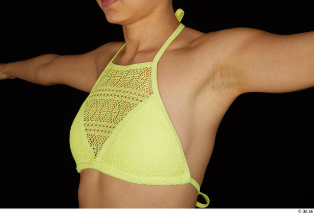 Chest Breast Woman White Bra Slim Studio photo references