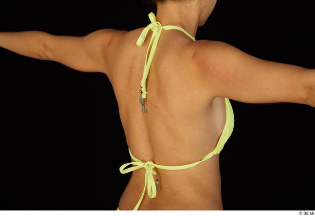 Chest Back Woman Bra Slim Studio photo references