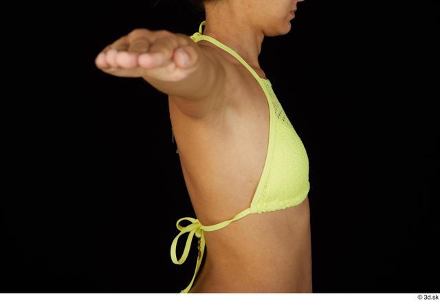 Chest Back Breast Woman Bra Slim Studio photo references