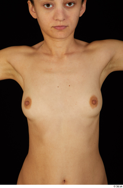 Chest Breast Woman Nude Slim Studio photo references