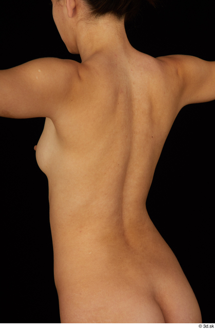Chest Back Woman Nude Slim Studio photo references