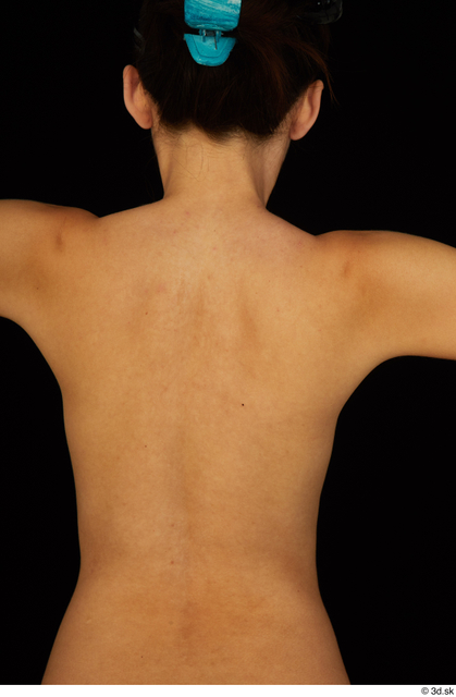 Chest Back Woman White Nude Slim Studio photo references