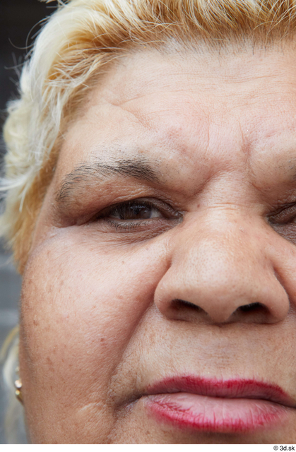 Eye Woman White Casual Overweight Street photo references