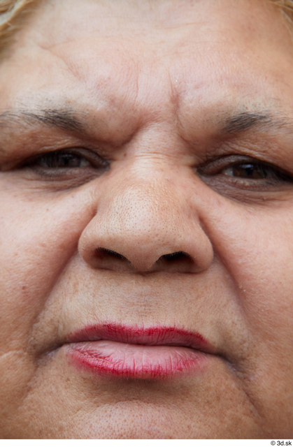 Nose Woman White Casual Overweight Street photo references