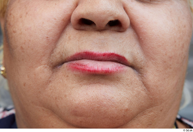 Mouth Woman White Casual Overweight Street photo references