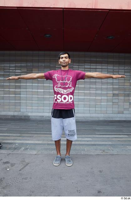 Whole Body Man T poses White Sports Slim Street photo references