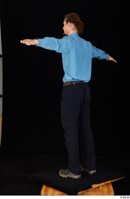 Whole Body Man T poses White Shoes Shirt Trousers Slim Standing Studio photo references
