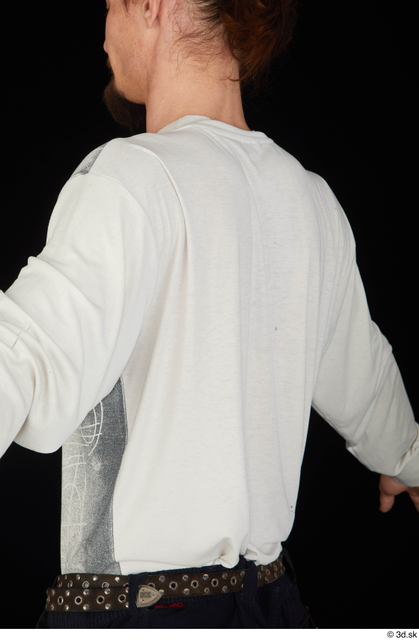 Upper Body Man White Shirt Slim Studio photo references