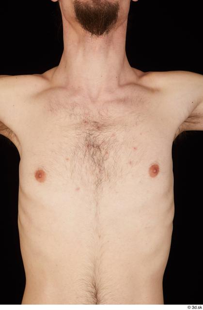Chest Man White Nude Slim Studio photo references