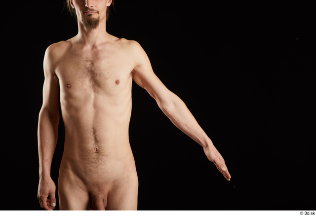 Arm Man White Nude Slim Studio photo references