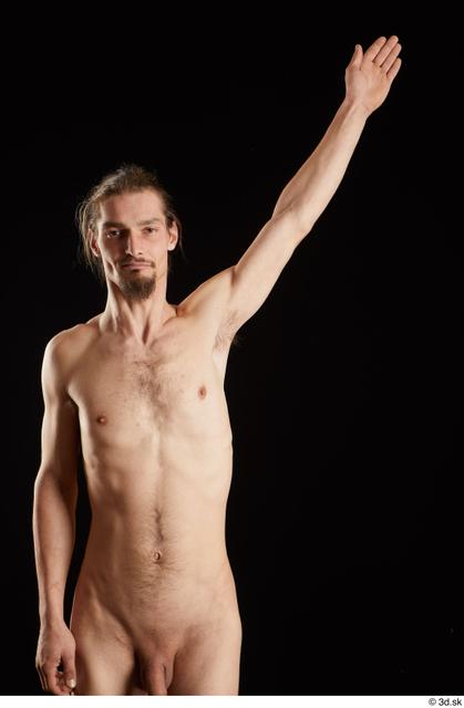 Arm Man White Nude Slim Studio photo references