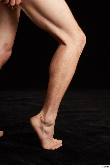 Calf Man White Nude Slim Studio photo references