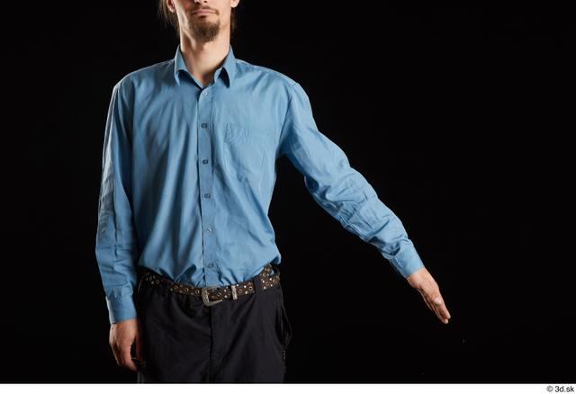 Arm Man White Shirt Trousers Slim Studio photo references