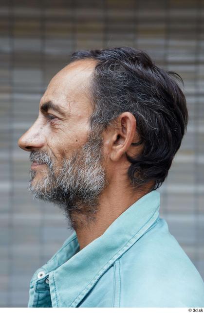 Head Man White Casual Slim Bearded Street photo references