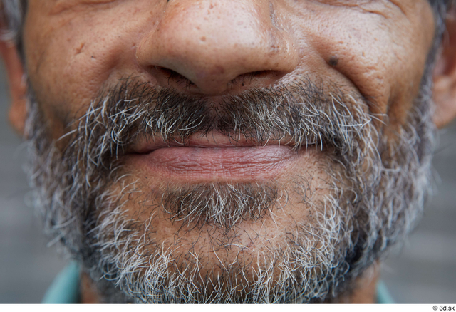 Mouth Man Casual Slim Bearded Street photo references