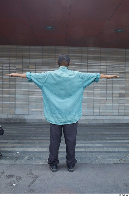 Whole Body Man T poses Casual Slim Standing Street photo references