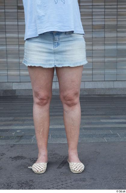 Leg Woman White Casual Average Street photo references