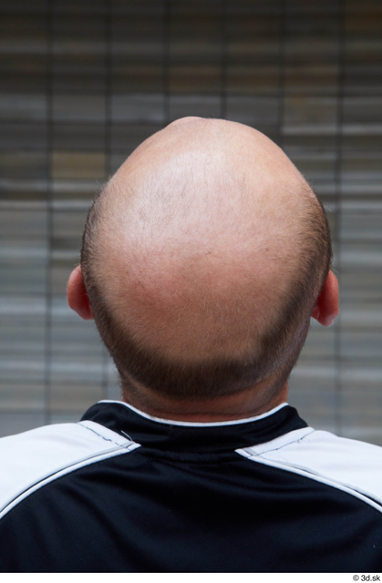 Head Man White Casual Average Bald Street photo references