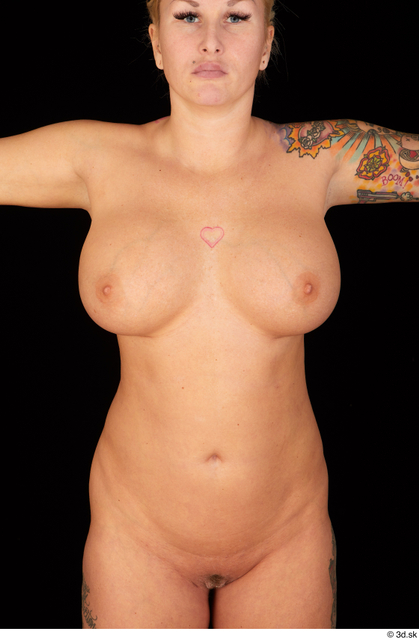Upper Body Woman White Nude Chubby Studio photo references