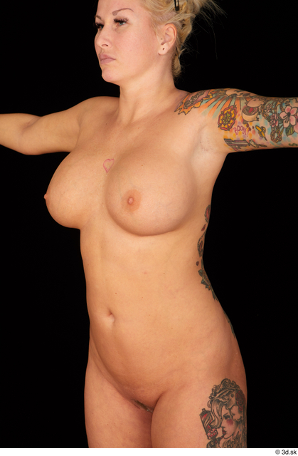 Upper Body Woman Nude Chubby Studio photo references