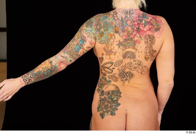 Arm Back Woman White Tattoo Chubby Studio photo references