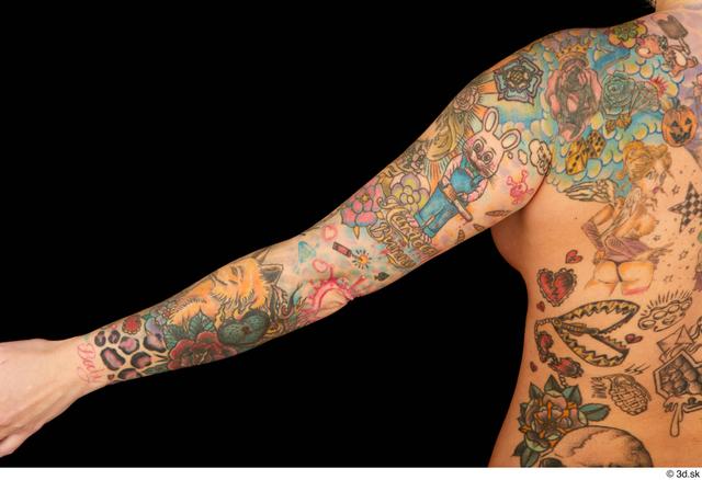 Arm Woman White Tattoo Chubby Studio photo references