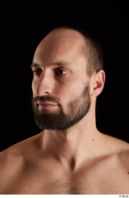 Head Man White Slim Bearded Studio photo references
