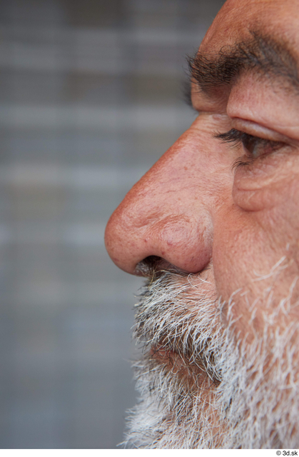 Nose Man Casual Average Bearded Street photo references