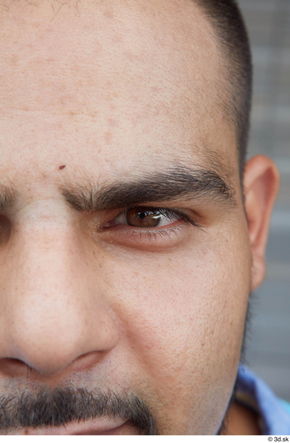 Eye Man White Casual Chubby Bearded Street photo references