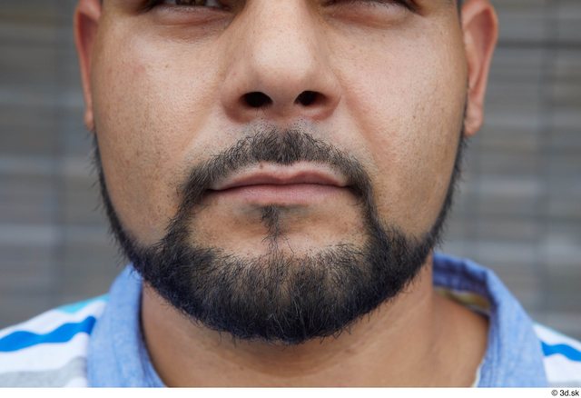 Mouth Man White Casual Chubby Bearded Street photo references