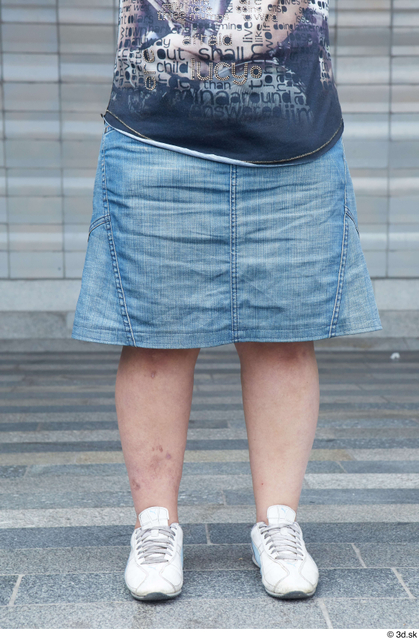 Leg Woman White Casual Chubby Street photo references