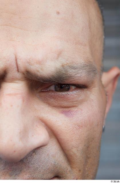 Eye Man White Casual Average Street photo references