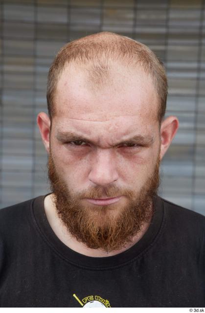 Head Man White Casual Average Bearded Bald Street photo references