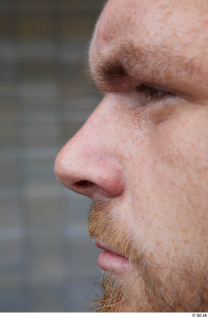 Nose Man White Casual Average Bearded Street photo references