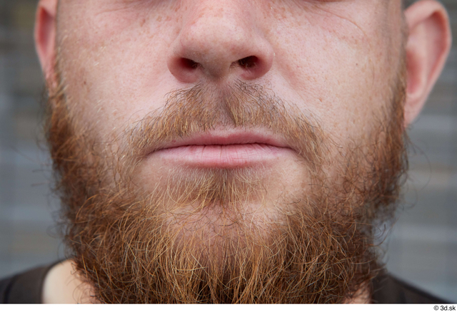 Mouth Man White Casual Average Bearded Street photo references