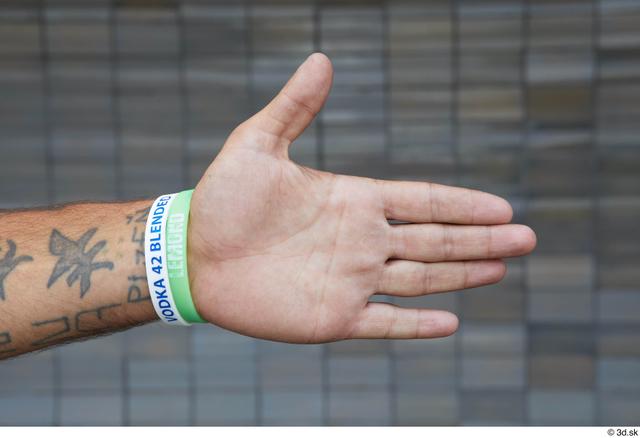 Hand Man White Tattoo Casual Slim Street photo references