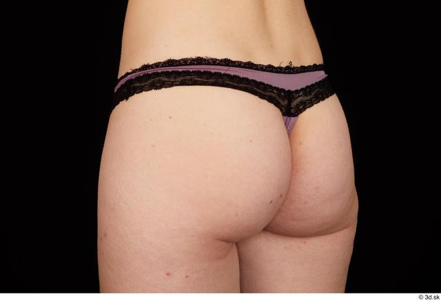 Hips Bottom Woman White Underwear Average Panties Studio photo references