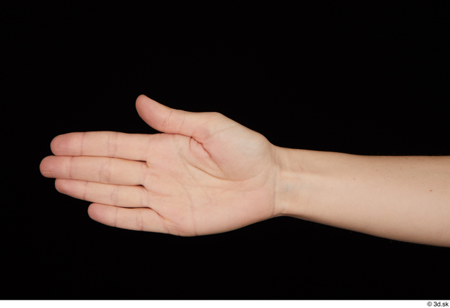 Hand Woman White Average Studio photo references