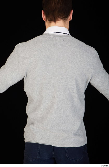 Upper Body Man Shirt Sweater Slim Studio photo references