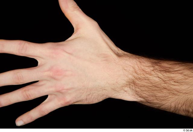 Hand Man White Slim Studio photo references