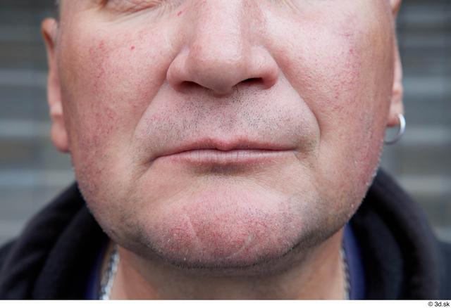 Mouth Man White Casual Chubby Street photo references